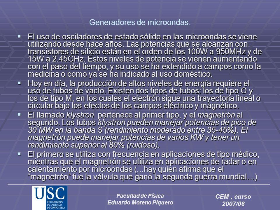 Generadores de microondas.