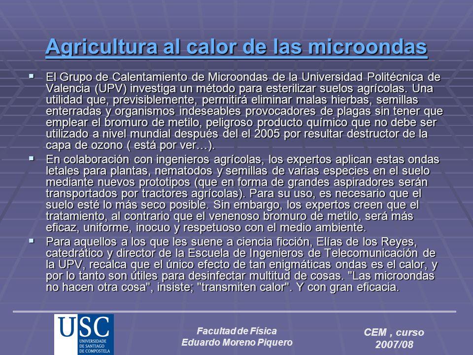 Agricultura al calor de las microondas