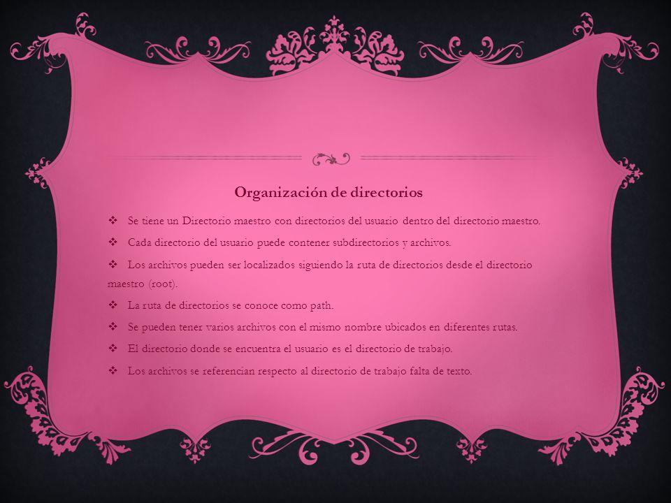 Organización de directorios