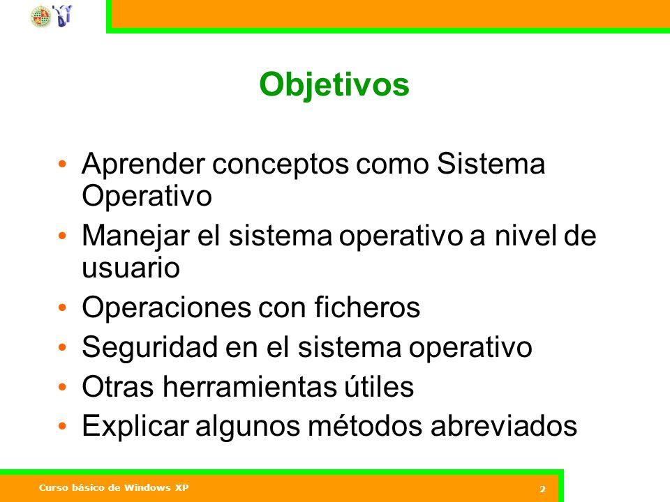 Objetivos Aprender conceptos como Sistema Operativo