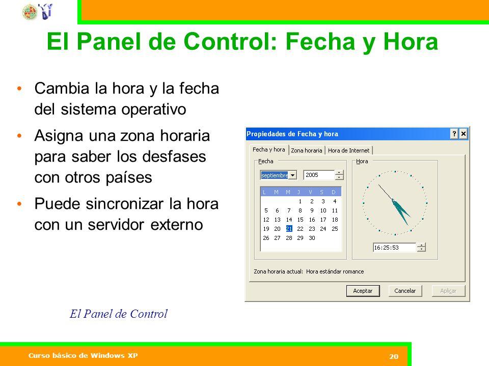 El Panel de Control: Fecha y Hora