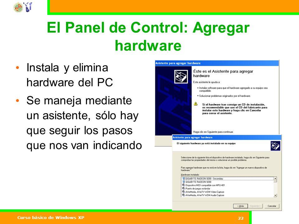 El Panel de Control: Agregar hardware