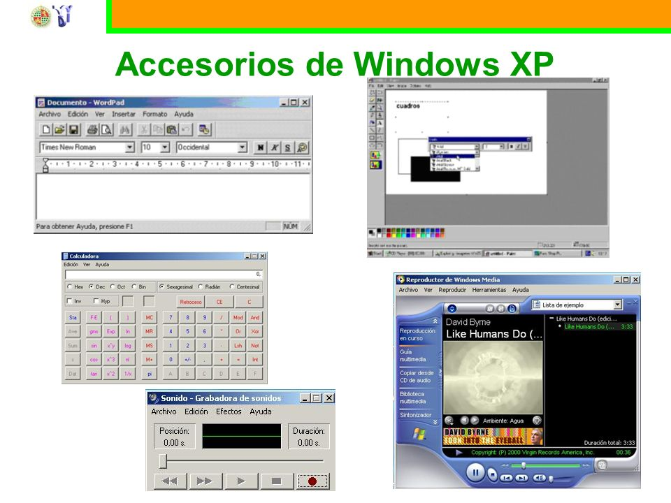 Accesorios de Windows XP