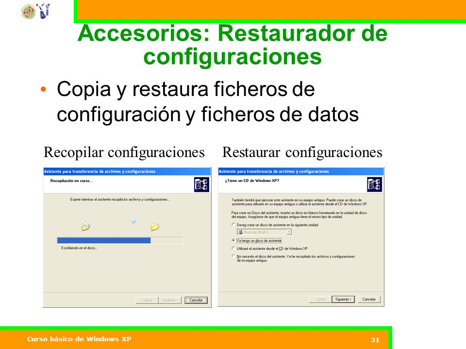 Accesorios: Restaurador de configuraciones