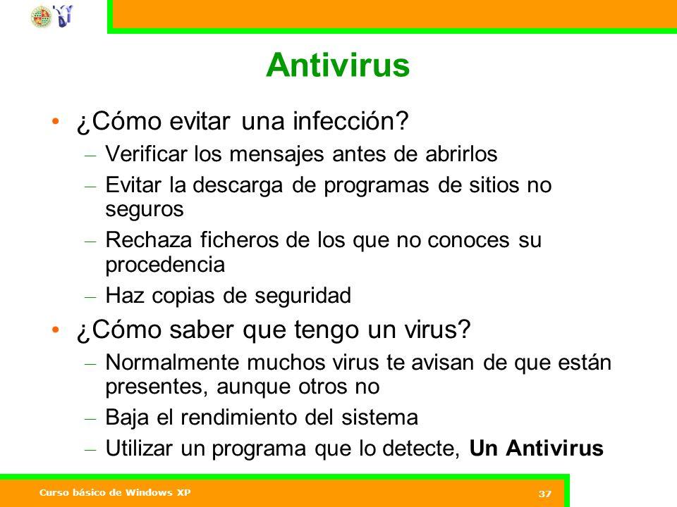 Antivirus ¿Cómo evitar una infección ¿Cómo saber que tengo un virus