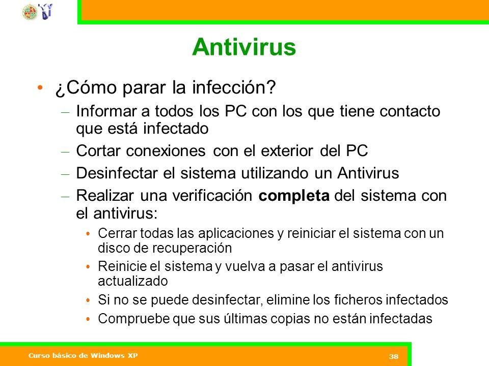 Antivirus ¿Cómo parar la infección