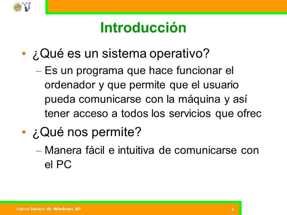 Introducción ¿Qué es un sistema operativo ¿Qué nos permite