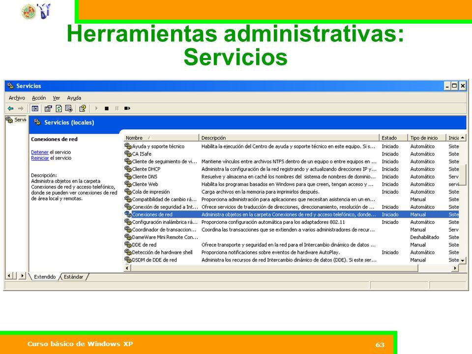 Herramientas administrativas: Servicios