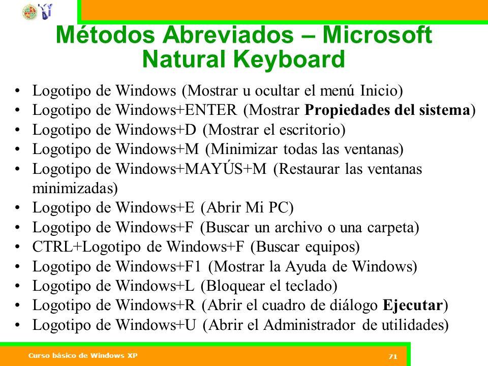 Métodos Abreviados – Microsoft Natural Keyboard