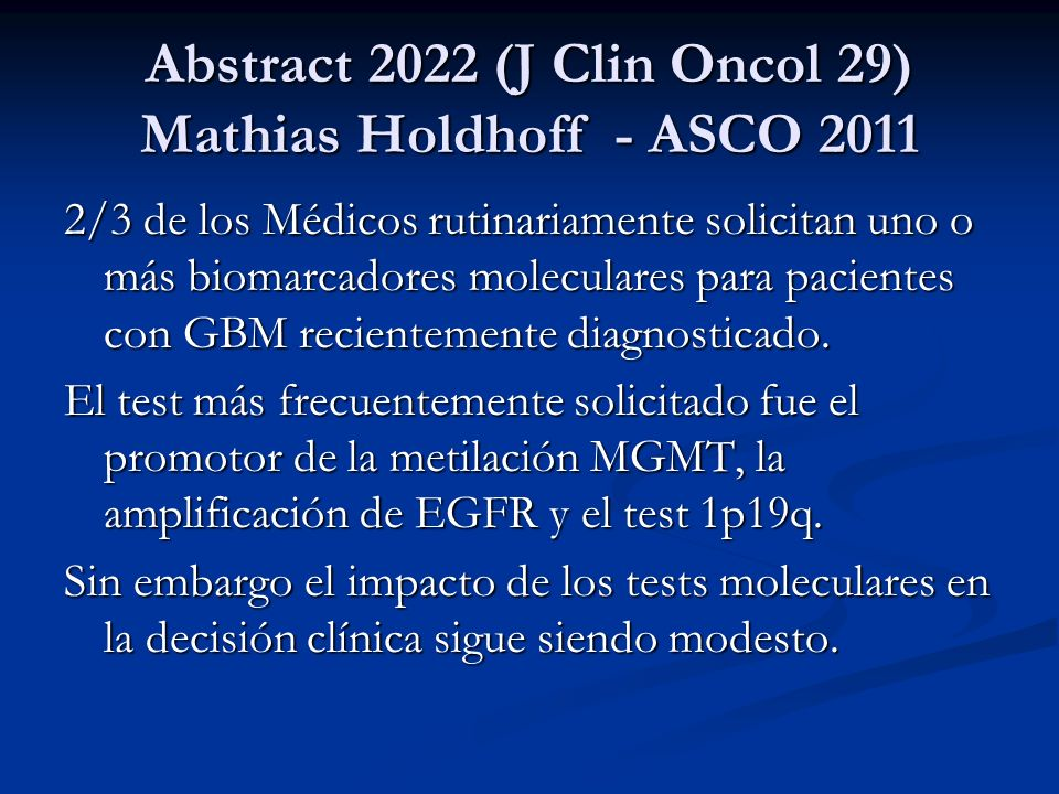 Abstract 2022 (J Clin Oncol 29) Mathias Holdhoff - ASCO 2011
