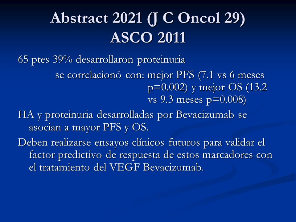 Abstract 2021 (J C Oncol 29) ASCO 2011
