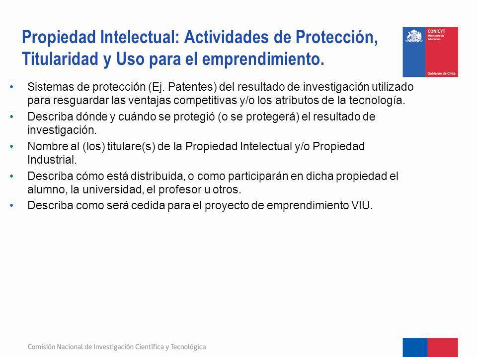 Propiedad Intelectual: Actividades de Protección, Titularidad y Uso para el emprendimiento.