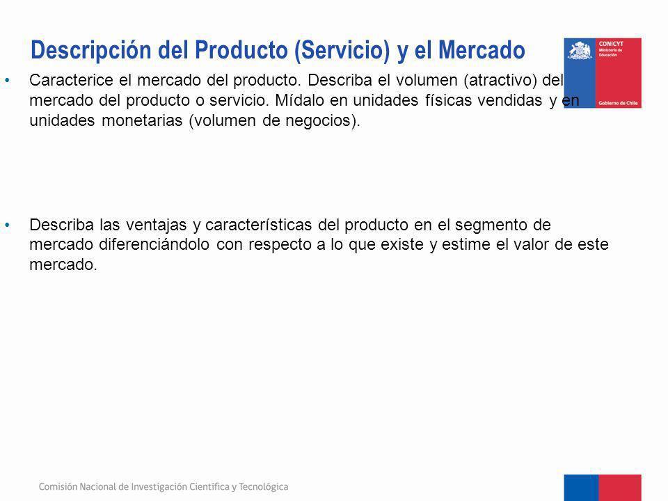 Descripción del Producto (Servicio) y el Mercado