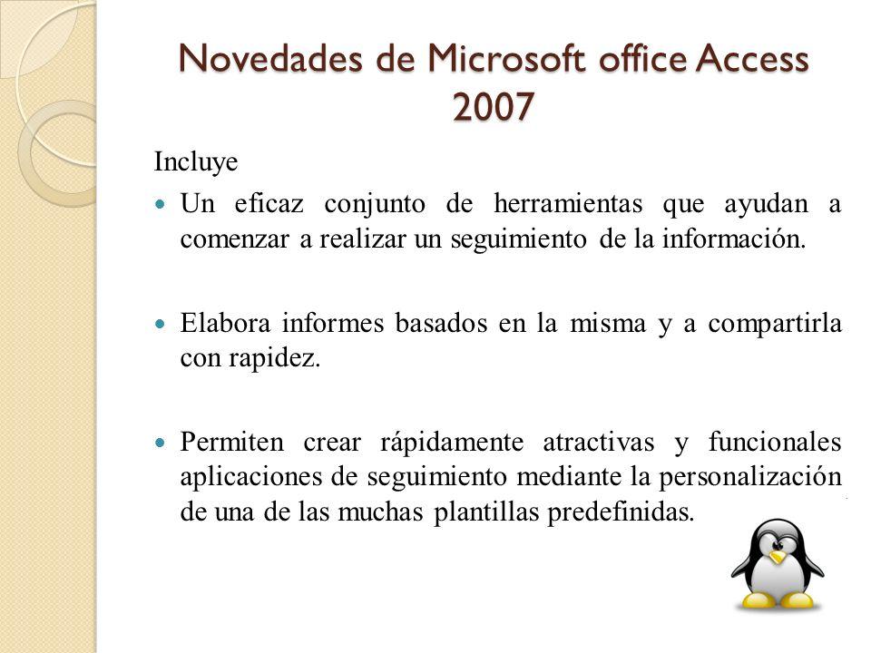 Novedades de Microsoft office Access 2007