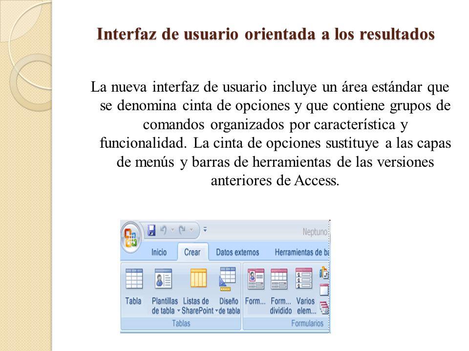 Interfaz de usuario orientada a los resultados