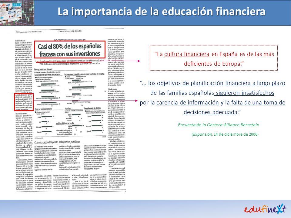 La cultura financiera en España es de las más deficientes de Europa.