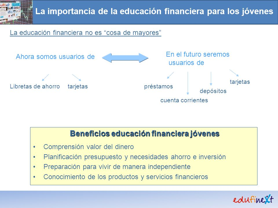 La importancia de la educación financiera para los jóvenes