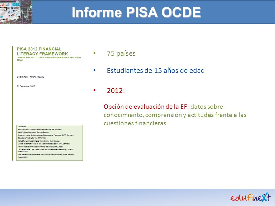 Informe PISA OCDE 75 países Estudiantes de 15 años de edad 2012: