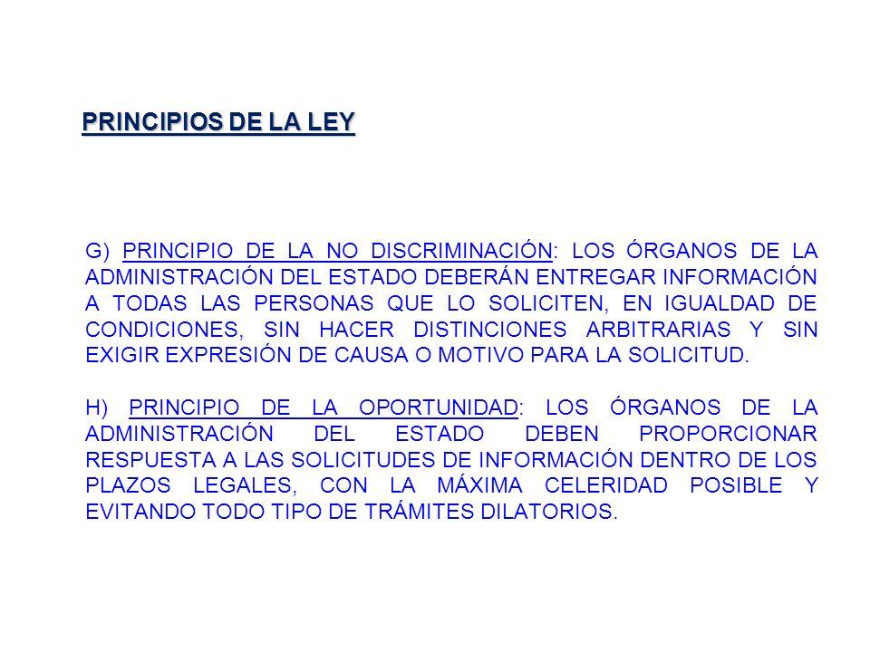 PRINCIPIOS DE LA LEY