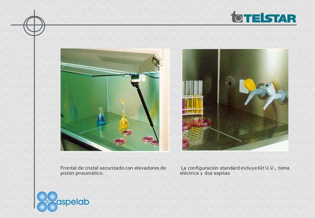 Frontal de cristal securizado con elevadores de La configuración standard incluye Kit U.V., toma