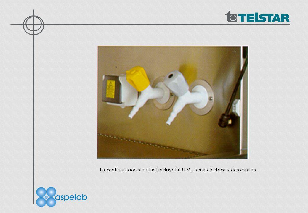 La configuración standard incluye kit U. V