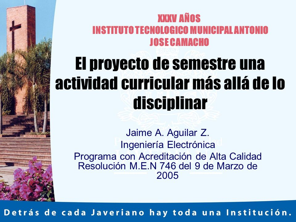 INSTITUTO TECNOLOGICO MUNICIPAL ANTONIO JOSE CAMACHO
