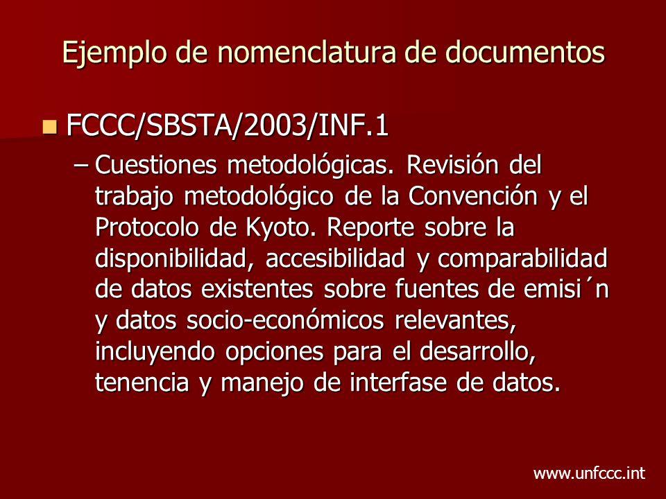 Ejemplo de nomenclatura de documentos