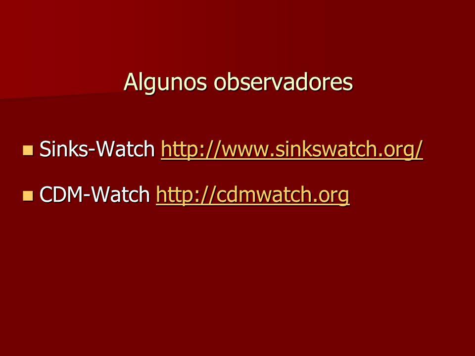 Algunos observadores Sinks-Watch http://www.sinkswatch.org/