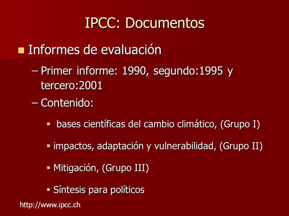 IPCC: Documentos Informes de evaluación