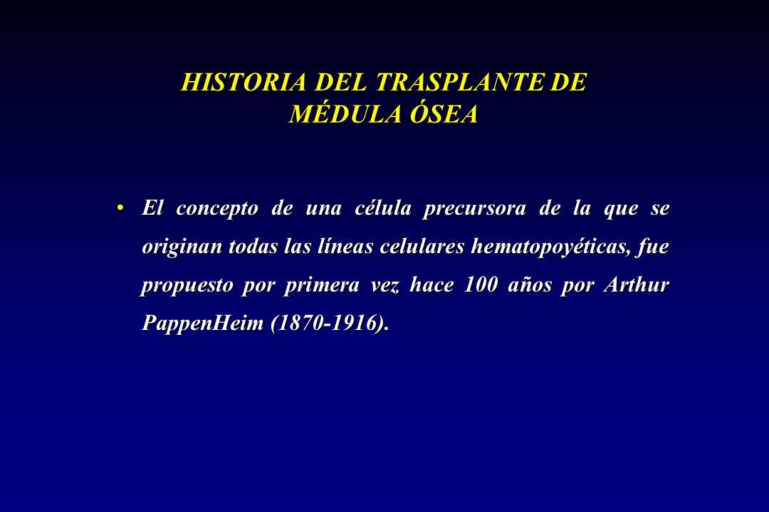 HISTORIA DEL TRASPLANTE DE MÉDULA ÓSEA