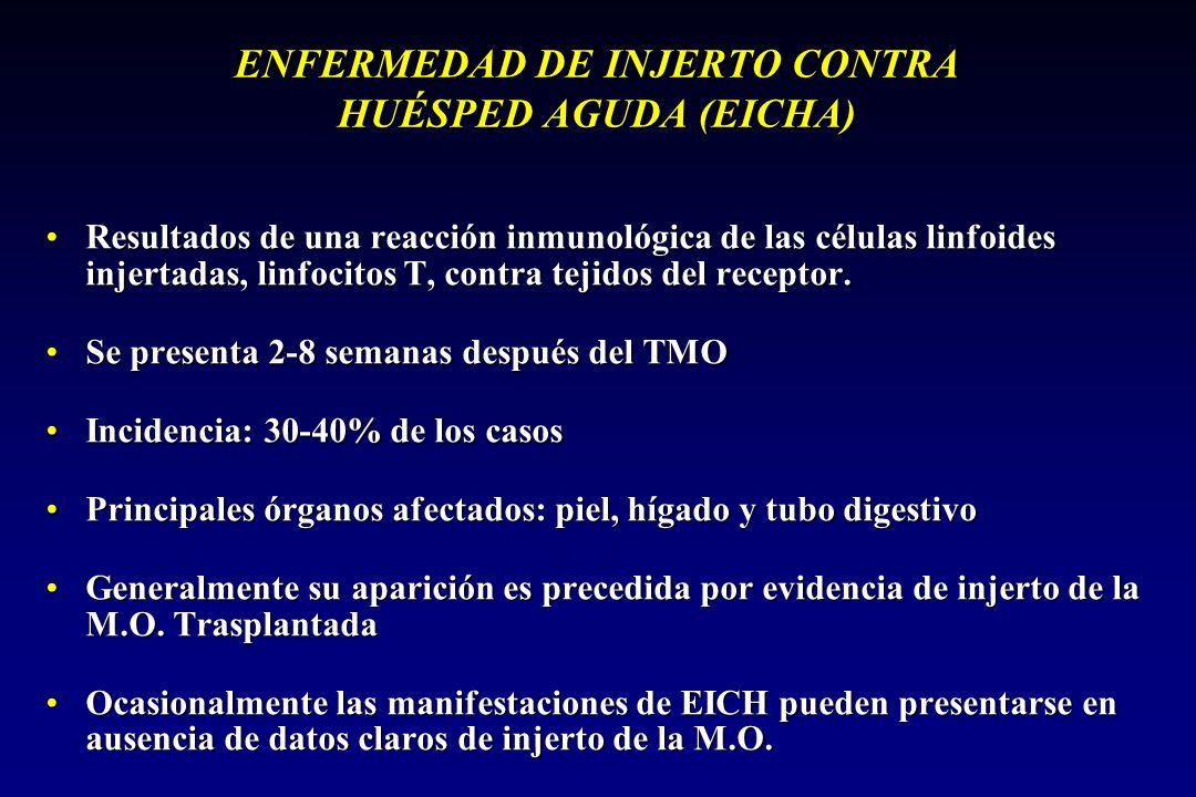 ENFERMEDAD DE INJERTO CONTRA HUÉSPED AGUDA (EICHA)