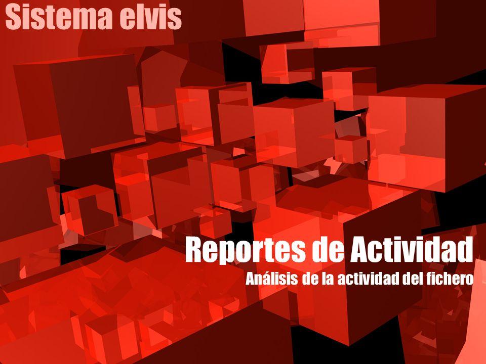 Sistema elvis Reportes de Actividad