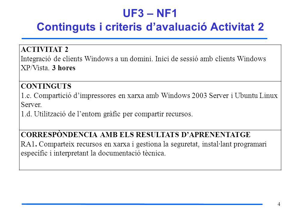 UF3 – NF1 Continguts i criteris d'avaluació Activitat 2