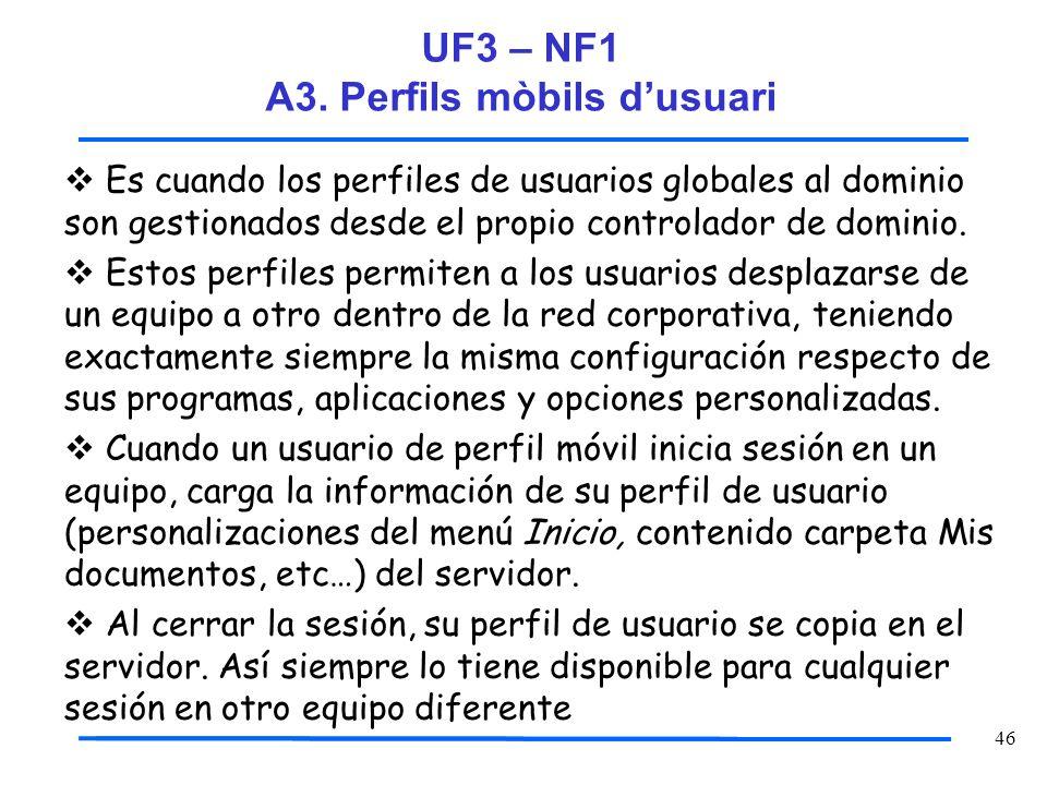 UF3 – NF1 A3. Perfils mòbils d'usuari