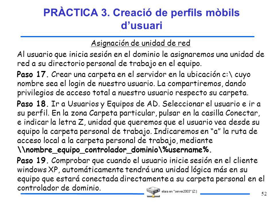 PRÀCTICA 3. Creació de perfils mòbils d'usuari