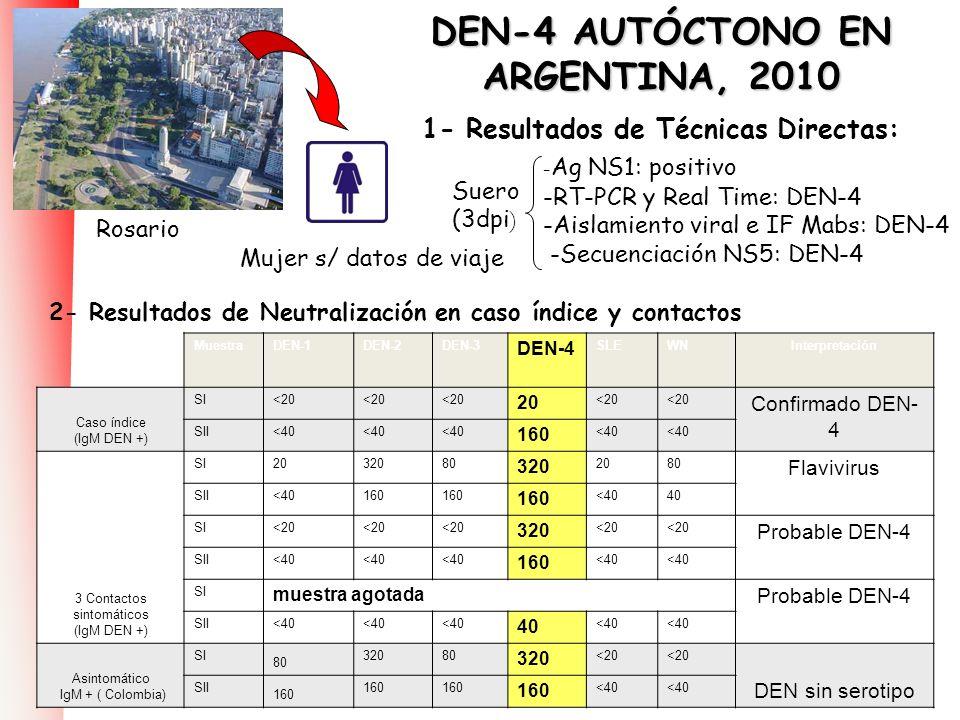 DEN-4 AUTÓCTONO EN ARGENTINA, 2010