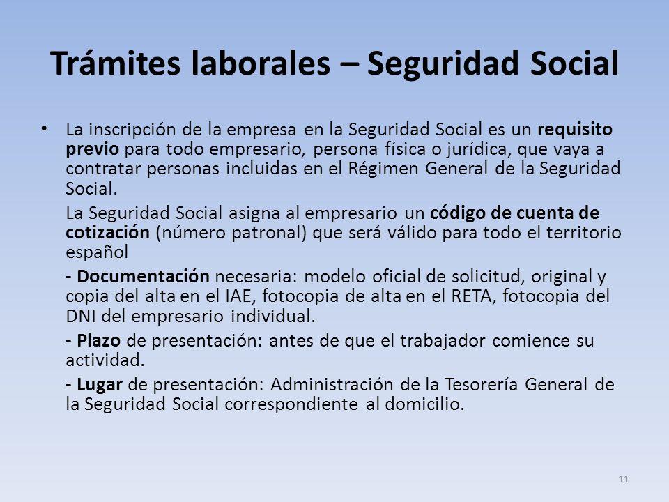 Trámites laborales – Seguridad Social