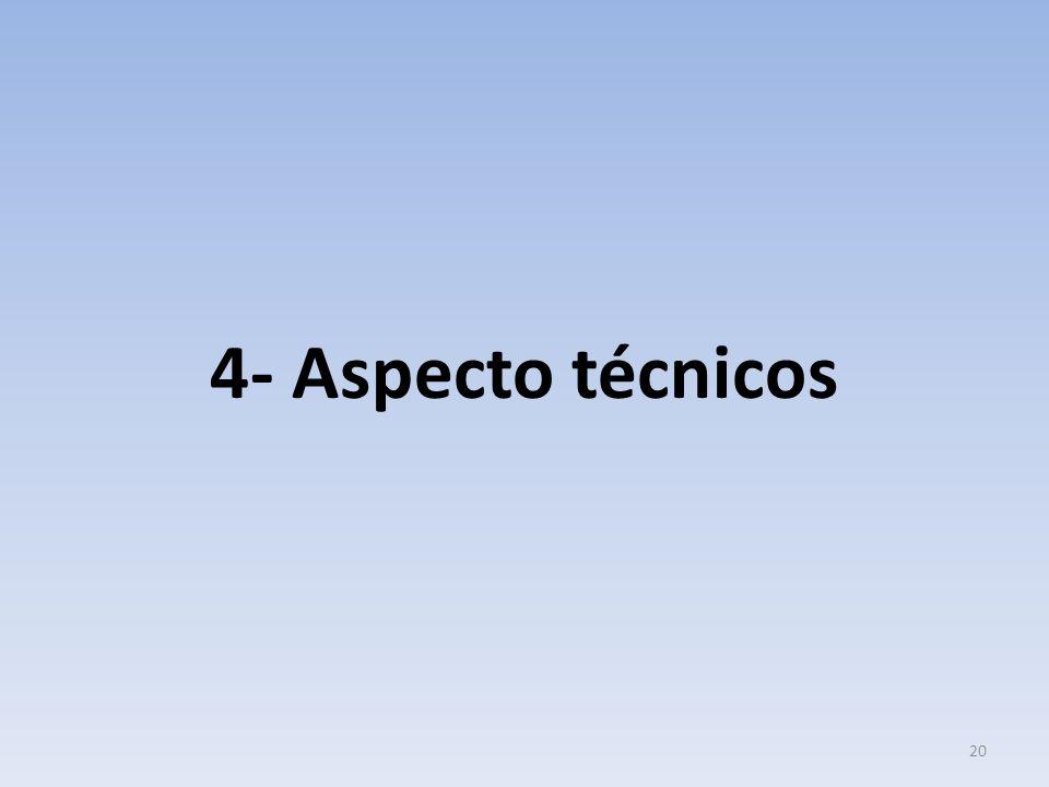 4- Aspecto técnicos
