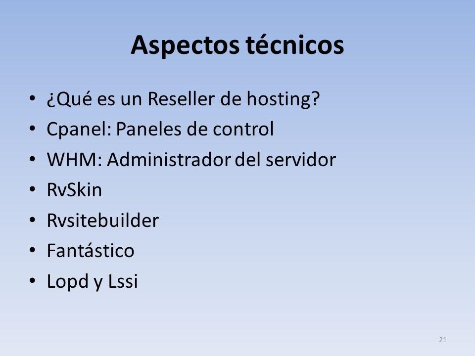 Aspectos técnicos ¿Qué es un Reseller de hosting