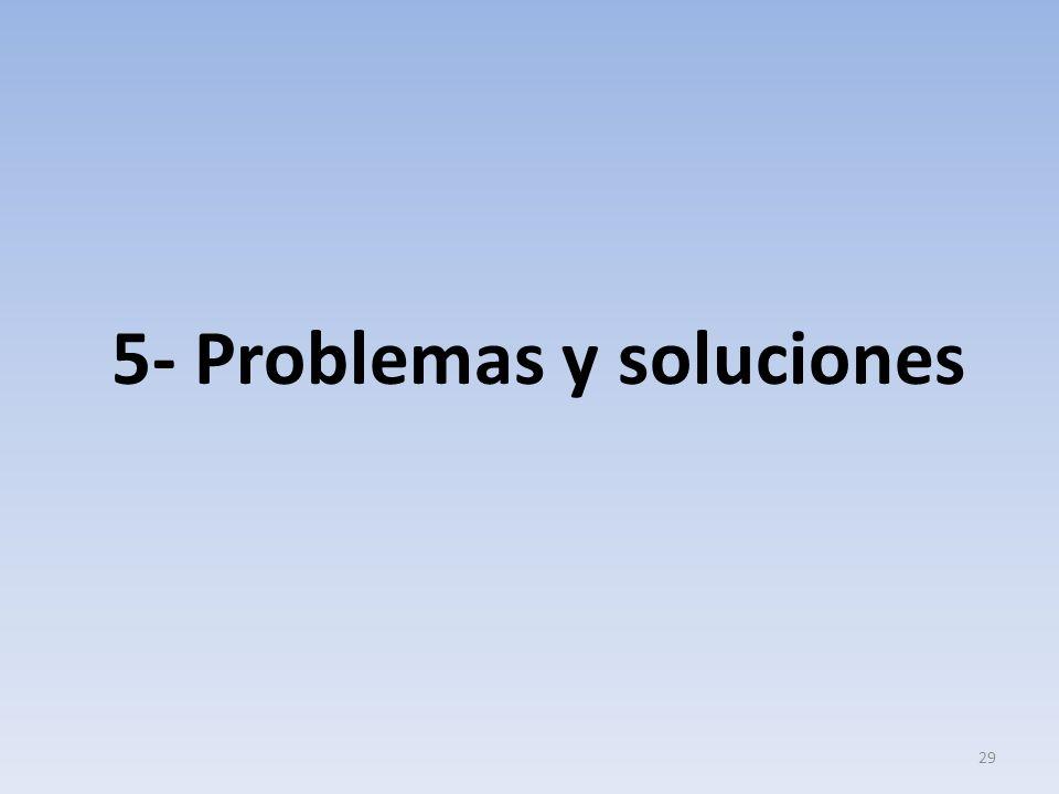 5- Problemas y soluciones