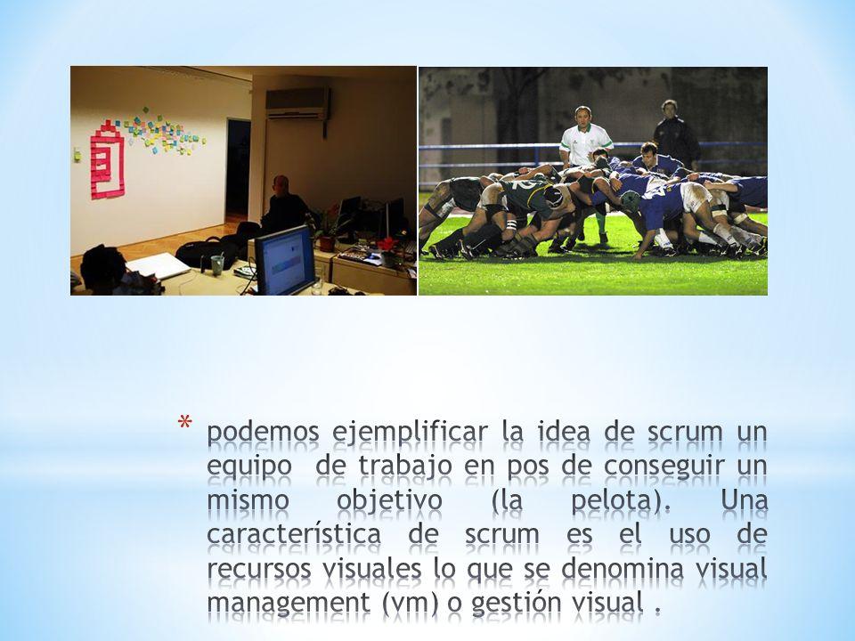 podemos ejemplificar la idea de scrum un equipo de trabajo en pos de conseguir un mismo objetivo (la pelota).