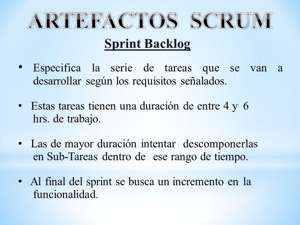 ARTEFACTOS SCRUM Sprint Backlog