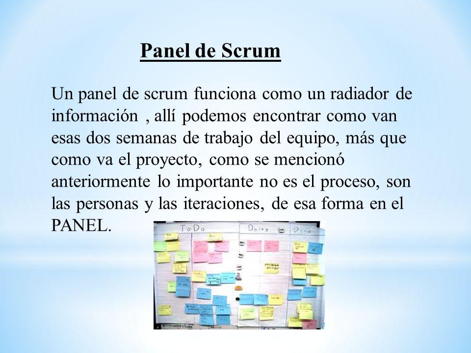 Panel de Scrum