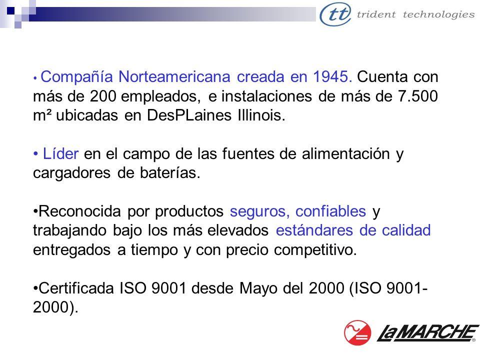 Certificada ISO 9001 desde Mayo del 2000 (ISO 9001-2000).