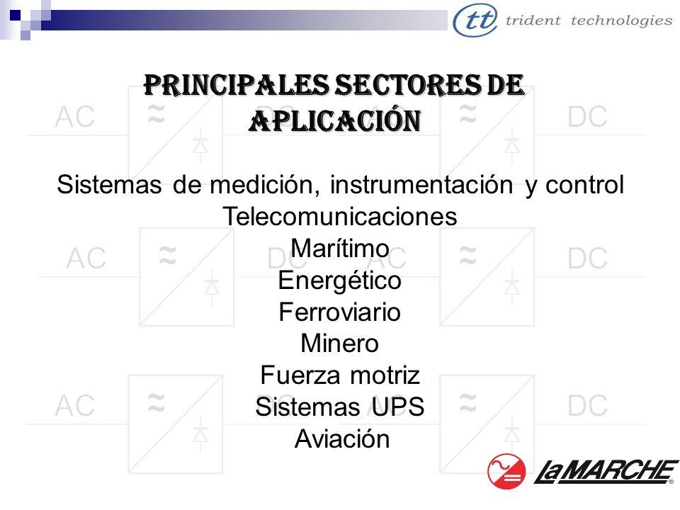 PRINCIPALES SECTORES DE Aplicación