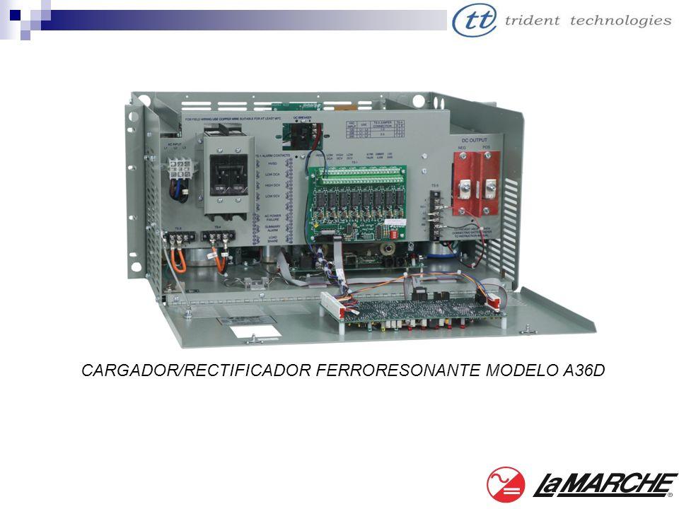 CARGADOR/RECTIFICADOR FERRORESONANTE MODELO A36D