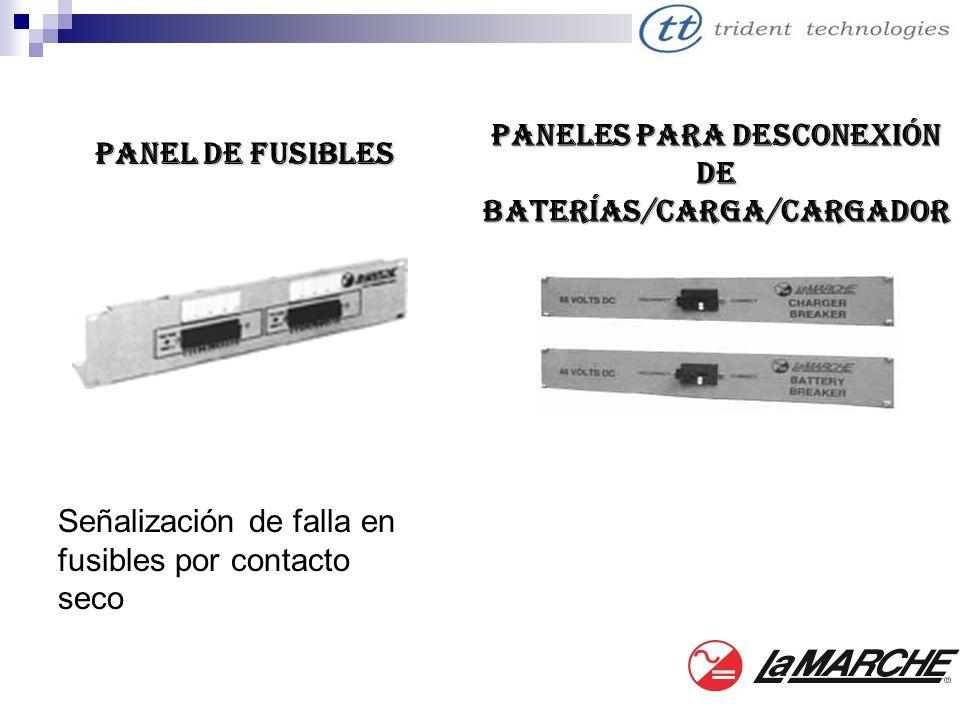 Paneles para desconexión de Baterías/Carga/Cargador