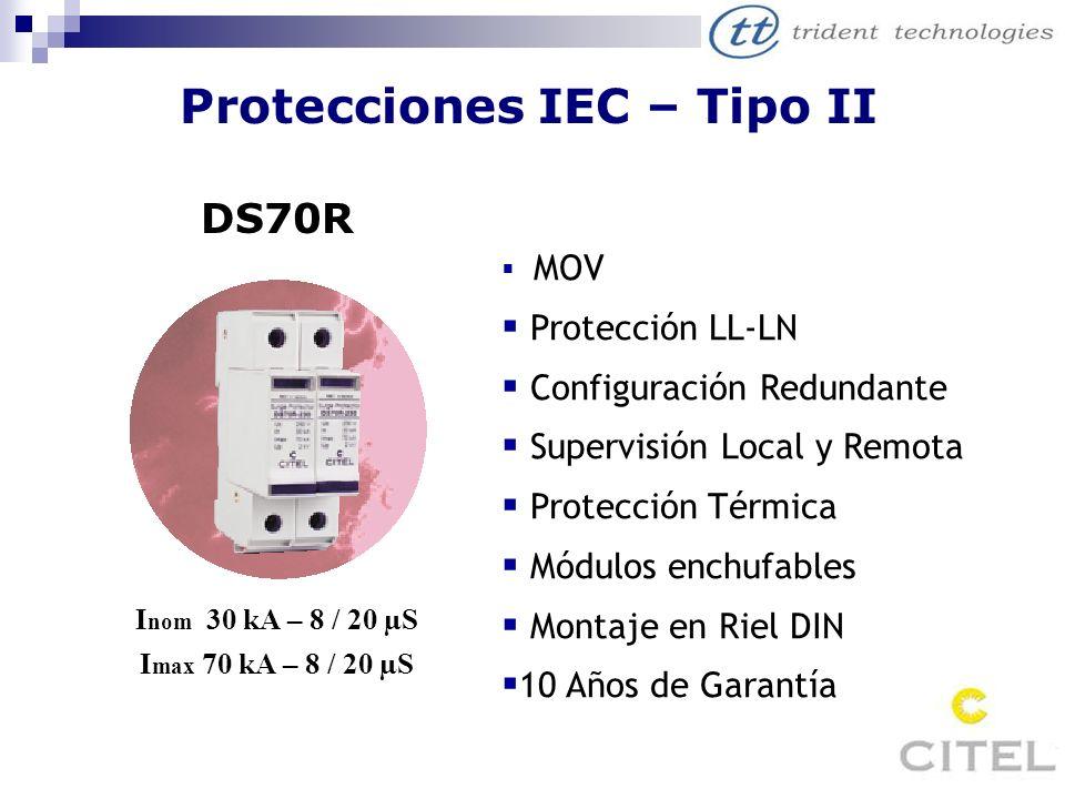 Protecciones IEC – Tipo II