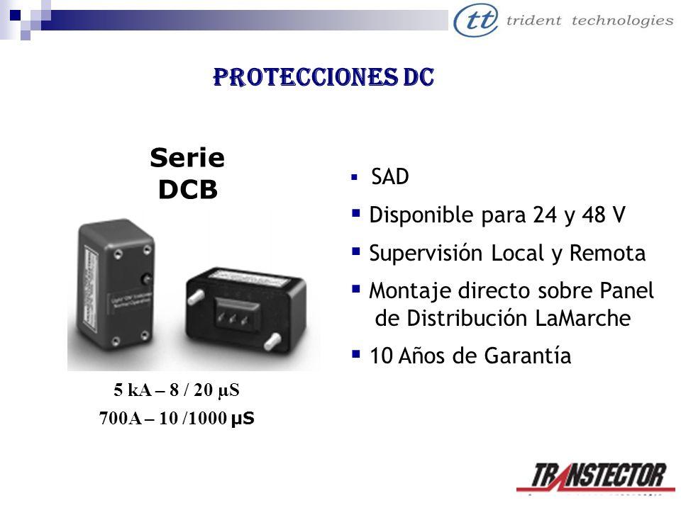 Protecciones DC Serie DCB Disponible para 24 y 48 V