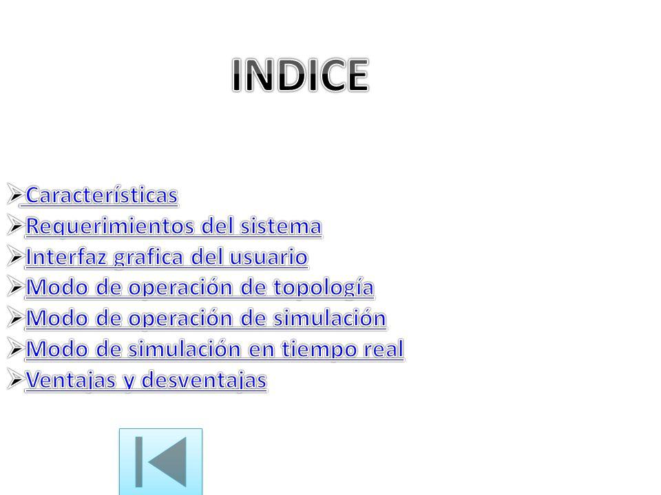 INDICE Características Requerimientos del sistema